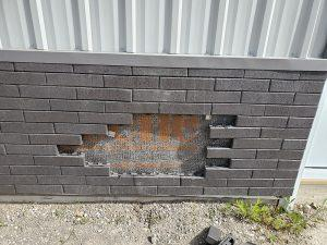 Step 3: Start to remove the broken brick and set aside the other brick to be re-installed.